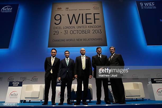 Muzaffar Hisham CEO Maybank Group Islamic Banking Amr Al Menhali Head of Islamic Banking Abu Dhabi Commercial Bank UAE Sajid Javid Hasan AlJabri of...