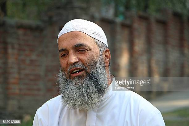 Muzaffar Wani father of rebel commander Burhan Wani during the conversation in Shareef Abad village in south Kashmirs Tral some 40 kilometers from...