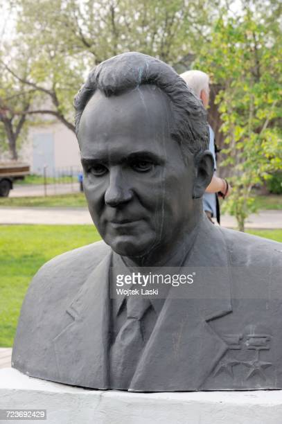 Muzeon a sculpture park in Moscow where old communist monuments have been placed Russia May 2013 Pictured a bust of Alexei Kosygin Chairman of the...