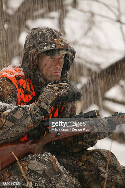 Muzzleloader Hunter In Winter