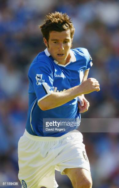 Muzzy Izzet of Birmingham City in action during the preseason friendly match between Birmingham City and Osasuna at St Andrews on August 7 2004 in...