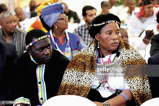 Mveso Eastern Cape Mandla Mandela grandson of Nelson Mandela is innuagurated as Head of the abaThembu tribe King Mpapatla brother of the late Magkabo...