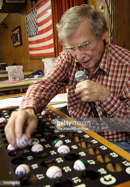 January 28 2007 CREDIT James M Thresher / TWP Wheaton MD Bingo night at Wheaton American Legion Post 268 Number caller Sonny McWilliams announcing...