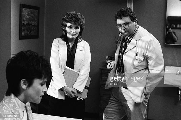 """My Aim is True"""" Episode 6 -- Pictured: Rosalind Allen as Beverly Colfax, Sagan Lewis as Doctor Jacqueline Wade, Stephen Furst as Doctor Elliot..."""