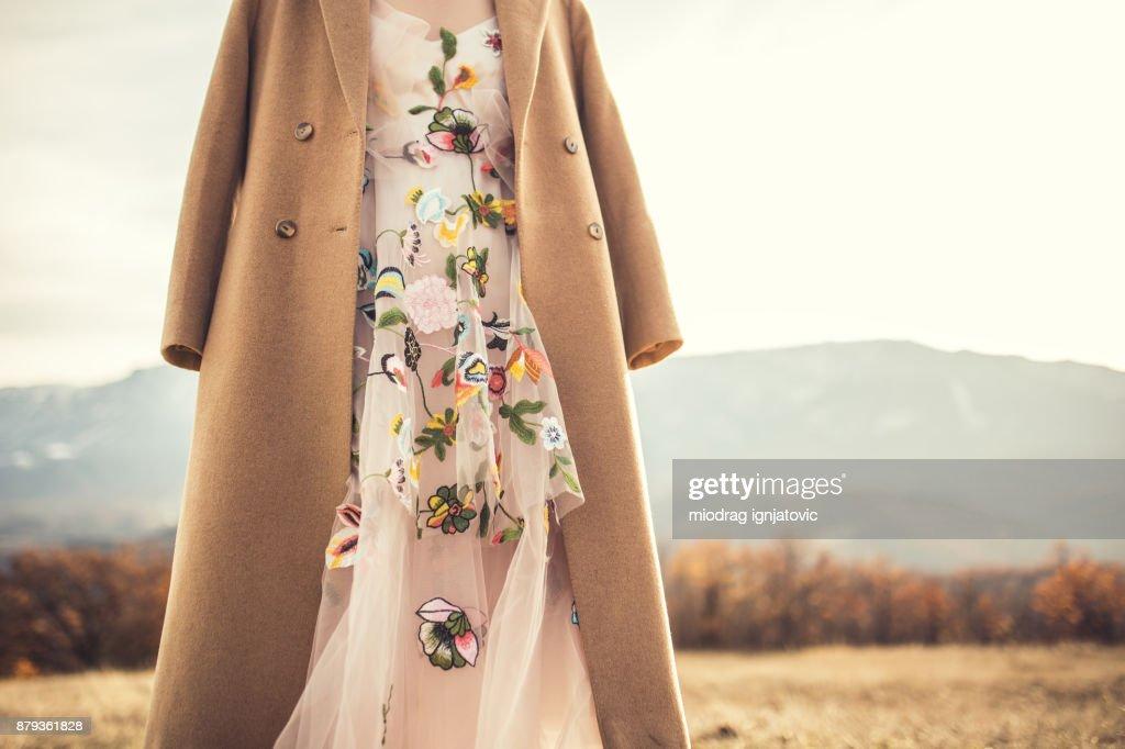 Mi vestido de novia hermoso : Foto de stock