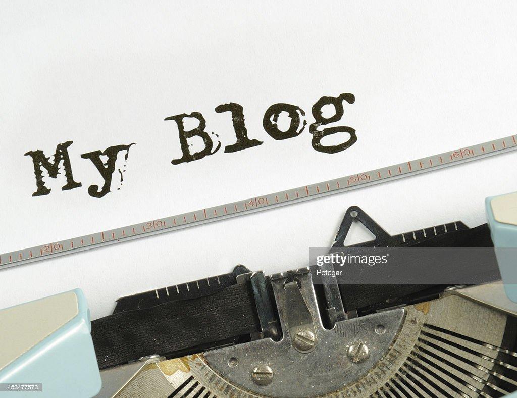 My Blog RetroTypewriter : Stock Photo