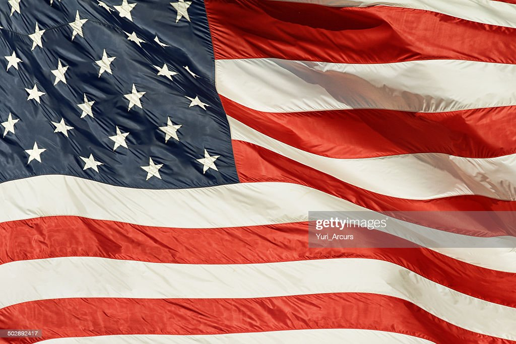 My blood is red, white and blue : Stock Photo