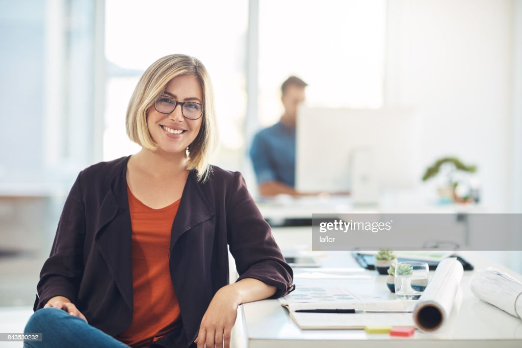 My career keeps me smiling everyday : Stock Photo