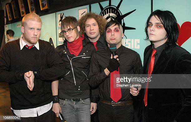 My Chemical Romance during Jesse McCartney My Chemical Romance and Rick Gonzalez Visit MTV's TRL January 17th 2005 at MTV Studios in New York City...