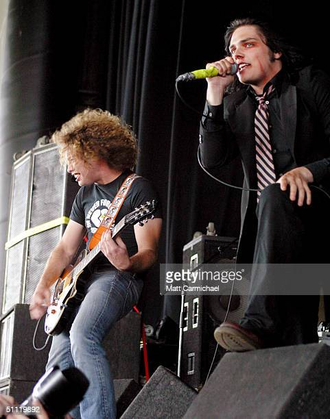 My Chemical Romance performs during the 2004 Vans Warped Tour at the Tweeter Center July 25 2004 in Chicago