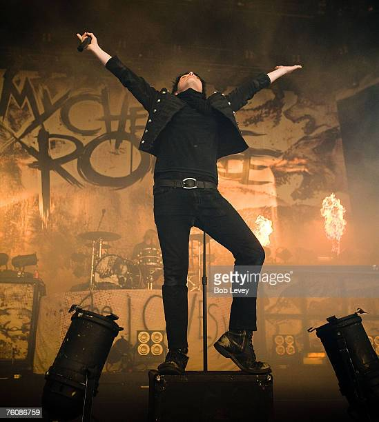 My Chemical Romance performs during the Projekt Revolution Tour at the Cynthia Woods Mitchell Pavilion Aug 5 2007 in The WoodlandsTexas