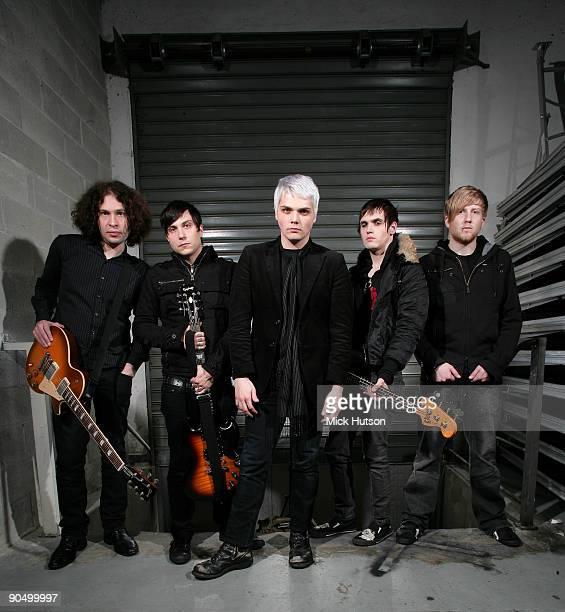 My Chemical Romance posed backstage in Milan on November 21 2006 LR Ray Toro Frank IeroGerard Way Mikey Way Bob Bryar