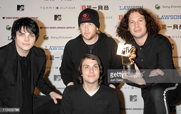 My Chemical Romance winner of Best Rock Video during MTV Video Music Awards Japan 2007 Press Room at Saitama Super Arena in Saitama Japan
