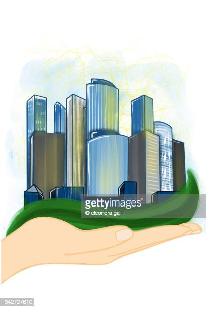 my city - bookend stock pictures, royalty-free photos & images