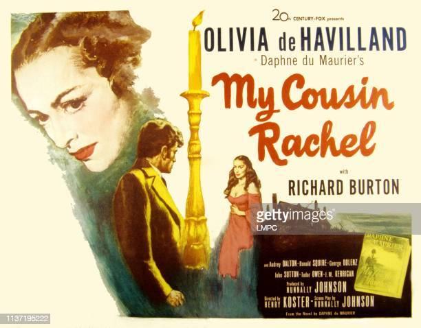 My Cousin Rachel poster Olivia de Havilland Richard Burton Audrey Dalton 1952