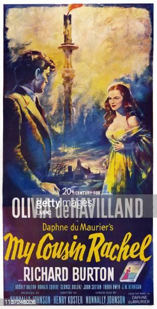 My Cousin Rachel poster poster art lr Richard Burton Audrey Dalton 1952