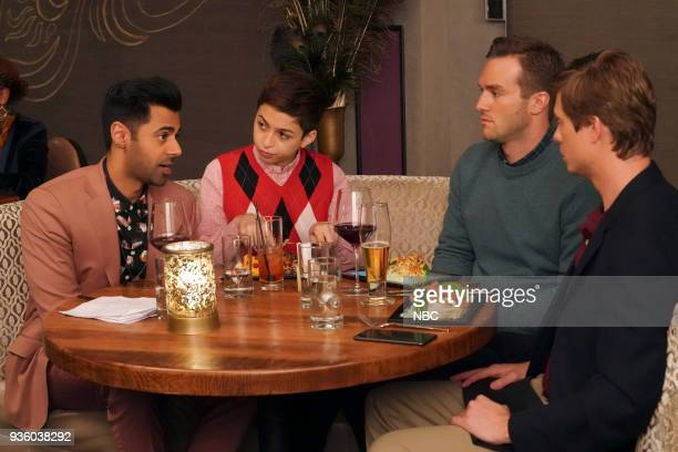 CHAMPIONS 'My Fair Uncle' Episode 103 Pictured Hasan Minhaj as Ro JJ Totah as Michael Andy Favreau as Matthew Anders Holm as Vince