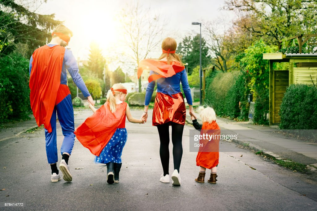 My father and mother are heroes : Stock Photo