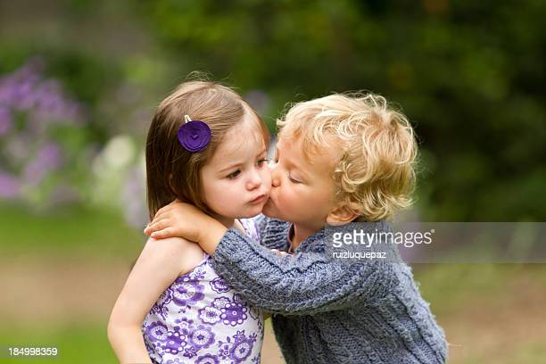 my first kiss - kissing stock pictures, royalty-free photos & images