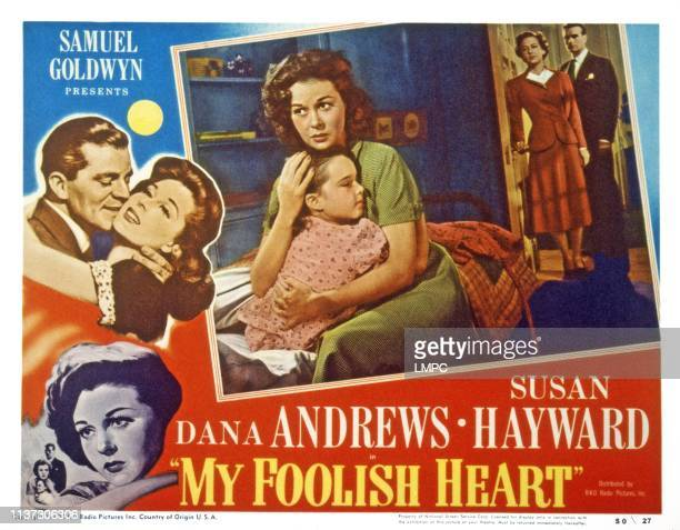 My Foolish Heart US lobbycard from left Gigi Perreau Susan Hayward Lois Wheeler Kent Smith 1949