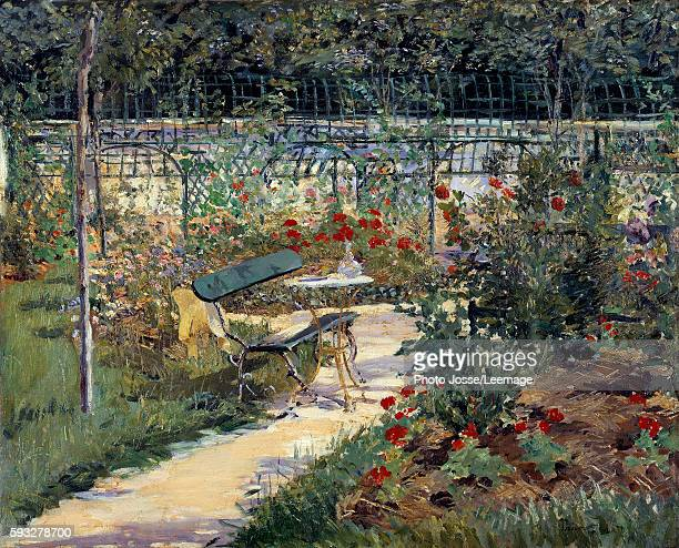 My garden the bench Painting by Edouard Manet 1883 Private collection