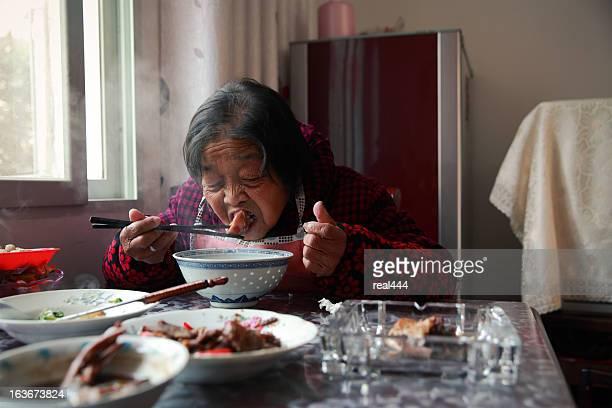 My grandmother at lunch