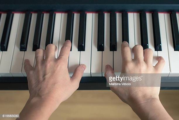 my hands - keyboard instrument stock photos and pictures