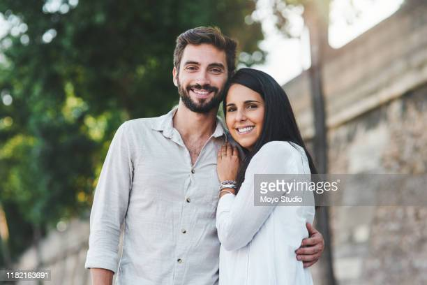 my heart is happiest when we're together - young couple stock pictures, royalty-free photos & images