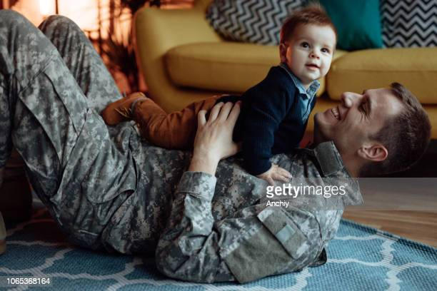 my hero is back home - military stock pictures, royalty-free photos & images