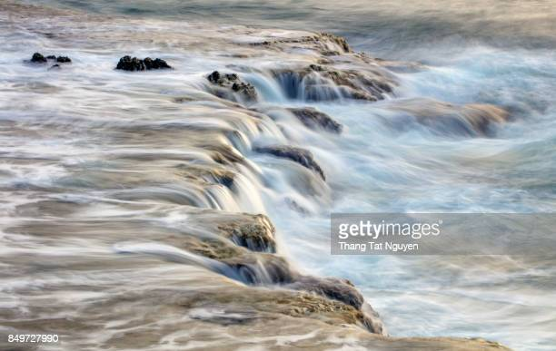 My Hiep sea waterfall, Ninh Thuan, Vietnam