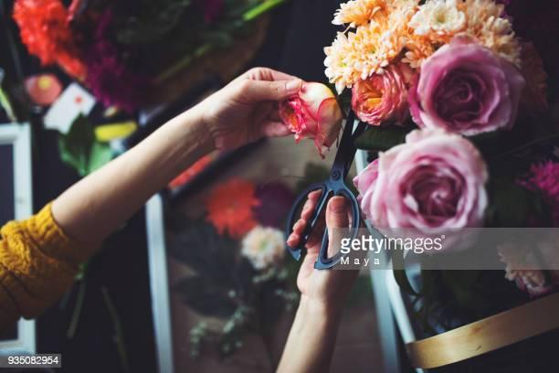 my hobby is botany - composizione di fiori foto e immagini stock