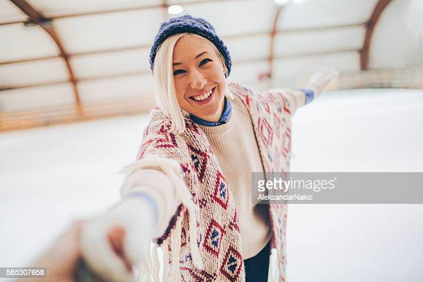 My ice-skating partner