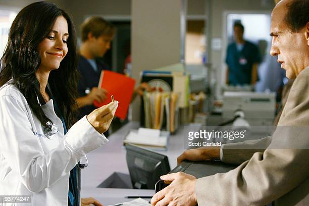 """My Jerks"""" -- Dr. Kelso's beautiful but unethical replacement, Dr. Maddox , shakes things up at Sacred Heart, while J.D. Struggles to manage a new..."""