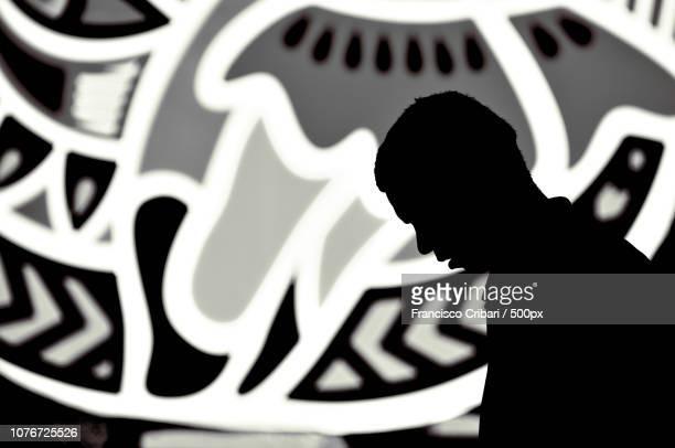my life is no more than a silhouette - moderne rockmusik stock-fotos und bilder