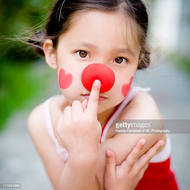 my little clown - clown's nose stock photos and pictures