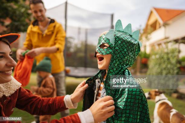 my little dinosaur - fancy dress costume stock pictures, royalty-free photos & images
