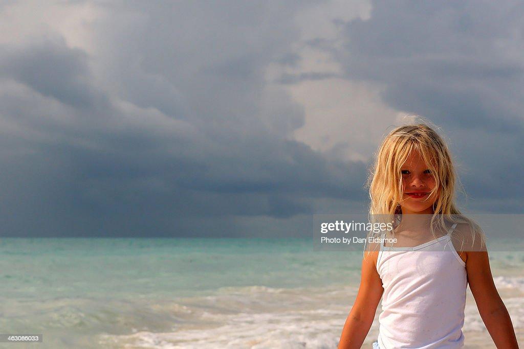 My Little Surfer Girl : Stock Photo