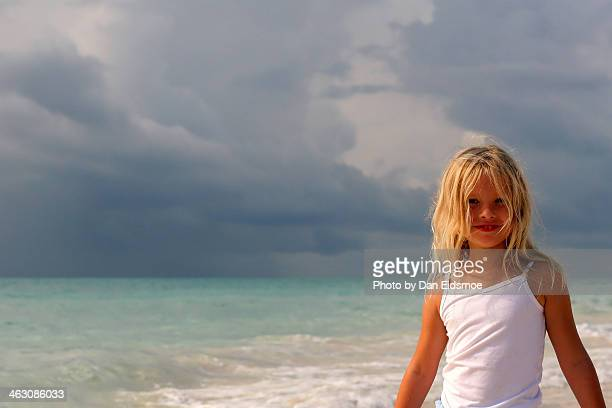 my little surfer girl - grand bahama stock photos and pictures