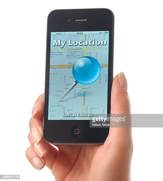 My Location app on iPhone 4