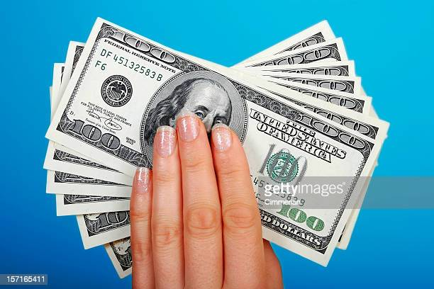 my money - one hundred dollar bill stock photos and pictures