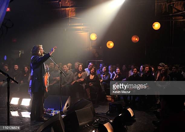My Morning Jacket perform during Vh1 Storytellers My Morning Jacket at Metropolis Studios on February 24 2011 in New York City