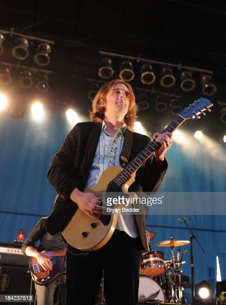 My Morning Jacket performs during CBGB Music Film Festival 2013 at Times Square on October 12 2013 in New York City