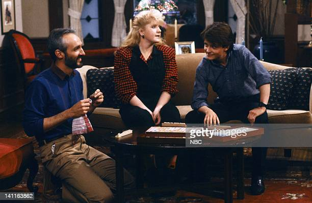 TIES 'My Mother My Friend' Episode 12 Pictured Michael Gross as Steven Keaton Tina Yothers as Jennifer Keaton Michael J Fox as Alex P Keaton Photo by...