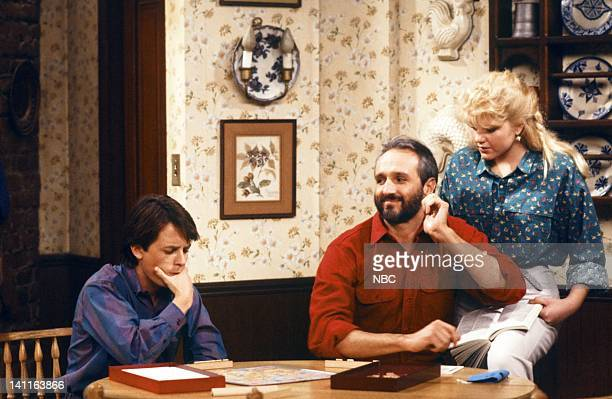 TIES 'My Mother My Friend' Episode 12 Pictured Michael J Fox as Alex P Keaton Michael Gross as Steven Keaton Tina Yothers as Jennifer Keaton Photo by...