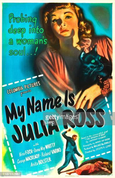 My Name Is Julia Ross poster US poster Nina Foch 1945
