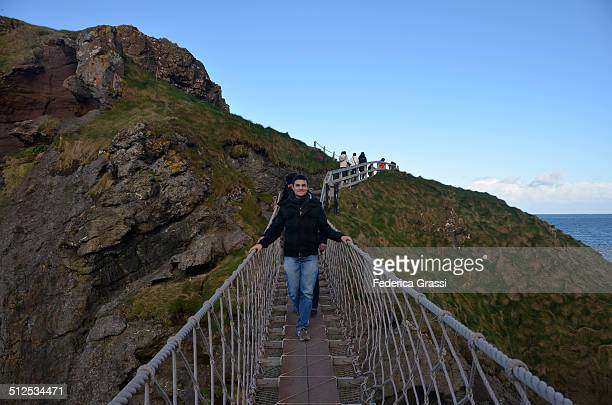 My Nephew on the Rope Bridge at Carrick-a-Rede