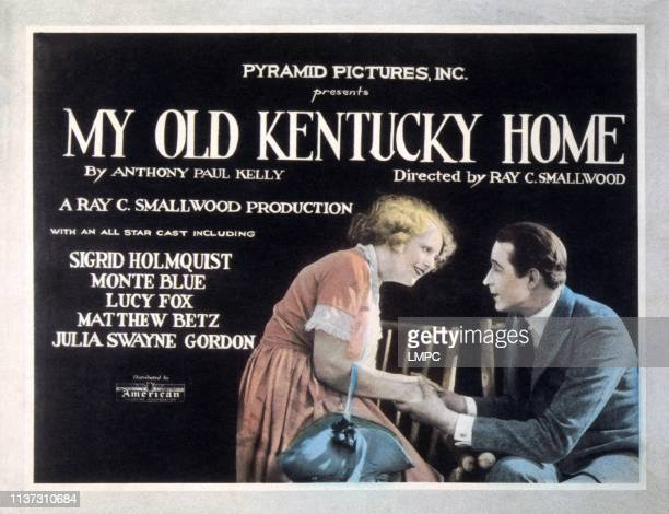 My Old Kentucky Home US lobbycard from left Sigrid Holmquist Monte Blue 1922