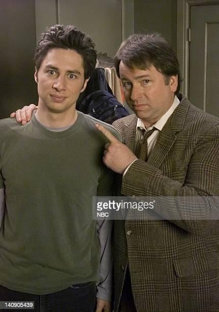 SCRUBS My Old Man Episode 19 Aired 04/09/02 Pictured Zach Braff as Dr John 'JD' Dorian John Ritter as Sam Dorian Photo by Paul Drinkwater/NBCU Photo...