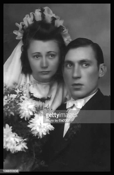 my parents, 1947 - marriage stock pictures, royalty-free photos & images