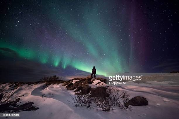 my path is towards the light - pingvellir national park stock photos and pictures